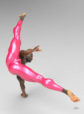 Athlete Dancer Rehearsing Poster