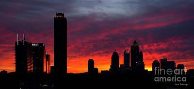 Atlanta Ablaze Midtown Atlanta Sunrise Art Poster by Reid Callaway