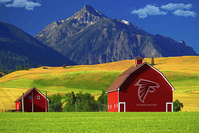 Poster featuring the photograph Atlanta Falcons Barn by Movie Poster Prints