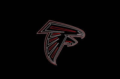 Atlanta Falcons Football Team Logo Neon Art Poster