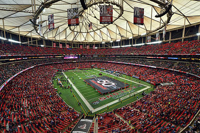 Atlanta Falcons Georgia Dome Poster by Mark Whitt