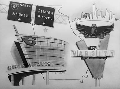 Atlanta Ga Collage Poster by Omari Slaughter