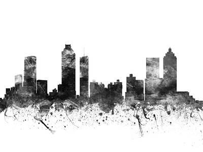 Atlanta Georgia Cityscape 02bw Poster by Aged Pixel