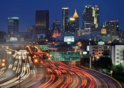 Atlanta Heavy Traffic Poster by Frozen in Time Fine Art Photography