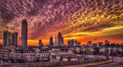 Atlanta Midtown Atlantic Station Sunrise Poster by Reid Callaway