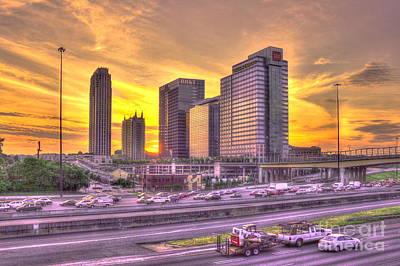 Atlanta Midtown Atlantic Station Sunset Poster by Reid Callaway