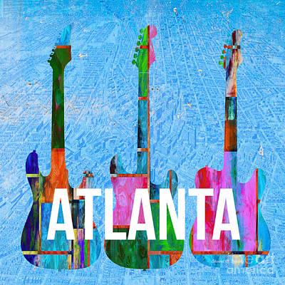 Atlanta Music Scene Poster by Edward Fielding