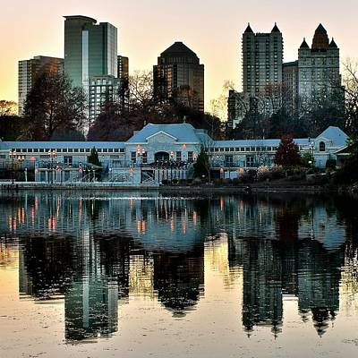 Atlanta Over Piedmont Park Poster by Frozen in Time Fine Art Photography