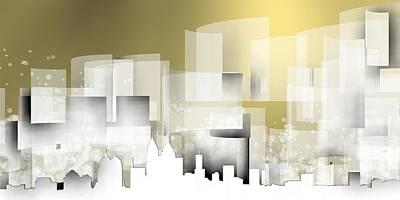 Atlanta Skyline.1 Poster by Alberto RuiZ