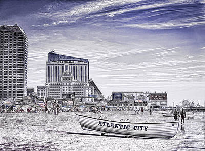 Poster featuring the photograph Atlantic City by Linda Constant