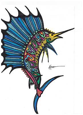 Atlantic Sailfish Poster by Kayla Roeber