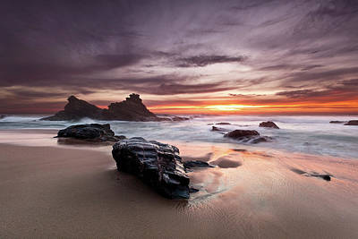 Poster featuring the photograph Atlantic Seashore by Jorge Maia