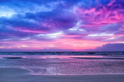 Atlantic Sunrise Poster by Janet Fikar