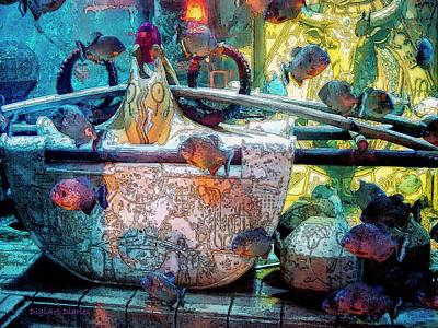 Atlantis Aquarium In Watercolor Poster