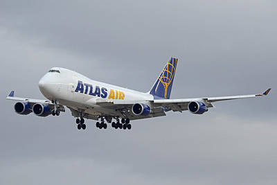 Atlas Air Boeing 747-47uf N415mc Phoenix Sky Harbor December 23 2015  Poster by Brian Lockett