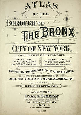 Atlas Of The Bronx Poster by Roy Pedersen