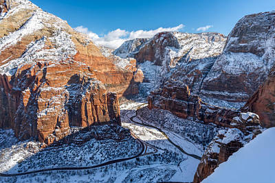 Atop Angels Landing In Winter Poster by James Udall