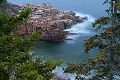 Atop Of Maine Acadia National Park Monument Cove  Poster by Juergen Roth