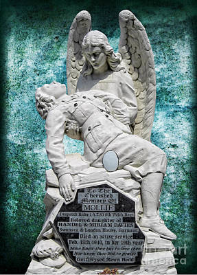 Poster featuring the photograph Ats Memorial by Nigel Fletcher-Jones