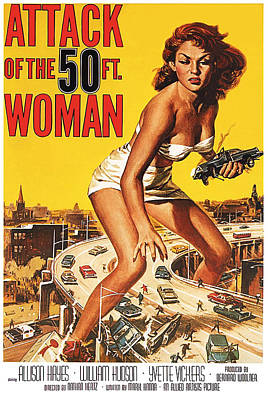 Attack Of The Big Woman Poster by Long Shot