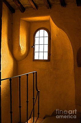 Poster featuring the photograph Attic Stairs-fiesole St.francis Monastery by Nicola Fiscarelli