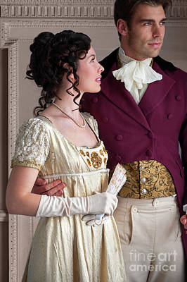 Poster featuring the photograph Attractive Regency Couple by Lee Avison