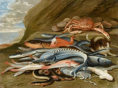attributed to Still Life with Fish Poster