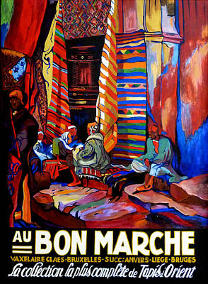 Poster featuring the painting Au Bon Marche by Tom Roderick