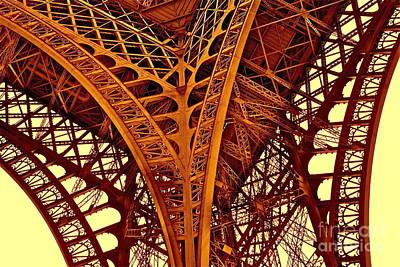 Poster featuring the photograph Au Pied De La Tour Eiffel by Danica Radman