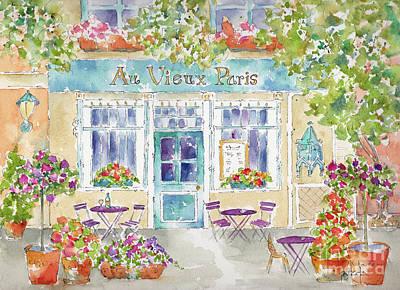 Poster featuring the painting Au Vieux Paris by Pat Katz