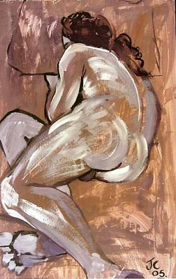 Aubergine Male Nude Poster
