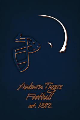 Auburn Tigers Helmet Poster by Joe Hamilton