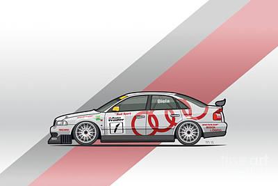 Audi A4 Quattro B5 Btcc Super Touring Poster