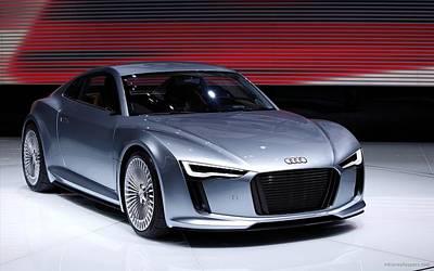 Audi E Tron 2010 New Wide Poster