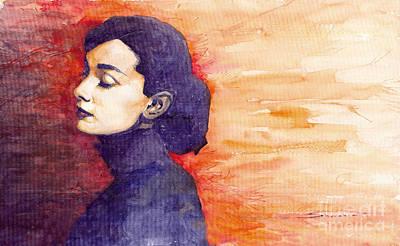 Audrey Hepburn 1 Poster by Yuriy  Shevchuk