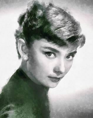 Audrey Hepburn Hollywood Actress Poster
