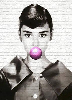 Audrey Hepburn Modern Pop Art Poster