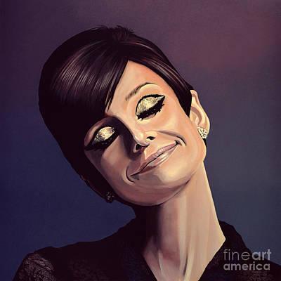 Audrey Hepburn Painting Poster