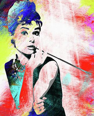 Audrey Hepburn Portrait 4 - By Diana Van Poster by Diana Van