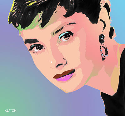 Poster featuring the digital art Audrey by John Keaton