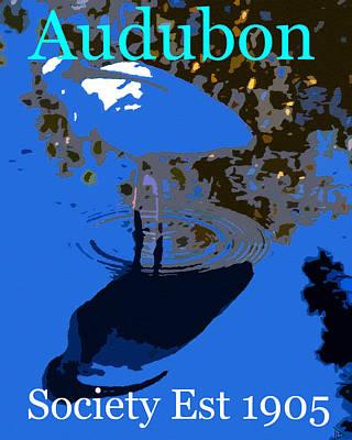 Audubon Ibis Reflection Poster