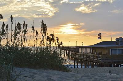 August Sunrise On The Obx  Poster