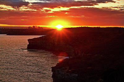 August Sunset From North Head Poster
