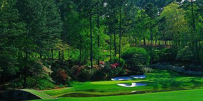 Augusta National Gc - 12th Hole - Golden Bell  Poster by Michael Graham