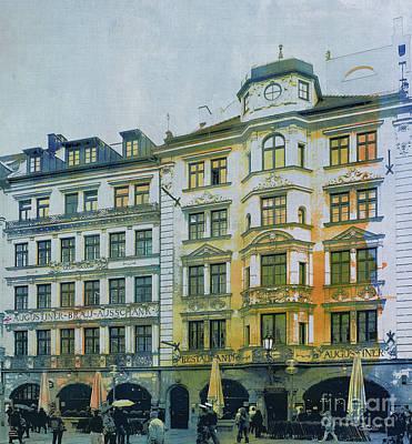 Augustiner Munich Poster by Jutta Maria Pusl