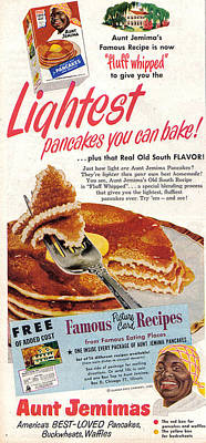 Poster featuring the digital art Aunt Jemima Pancakes by ReInVintaged