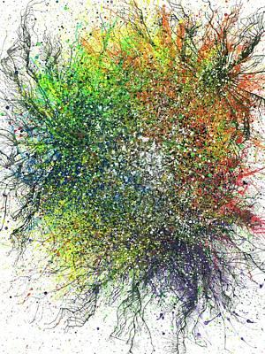 Aura Of The Starseeds #695 Poster by Rainbow Artist Orlando L aka Kevin Orlando Lau