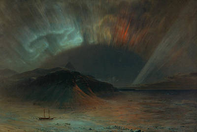 Aurora Borealis Poster by Frederic Edwin Church