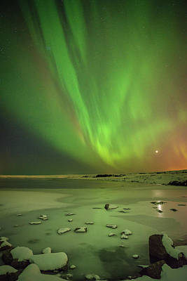 Aurora Borealis Or Northern Lights. Poster by Andy Astbury