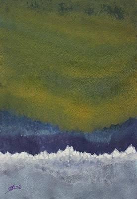 Aurora Borealis Original Painting Poster by Sol Luckman